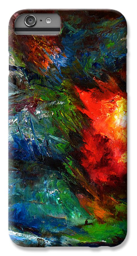 Abstract IPhone 7 Plus Case featuring the painting Embrace by Lou Ewers