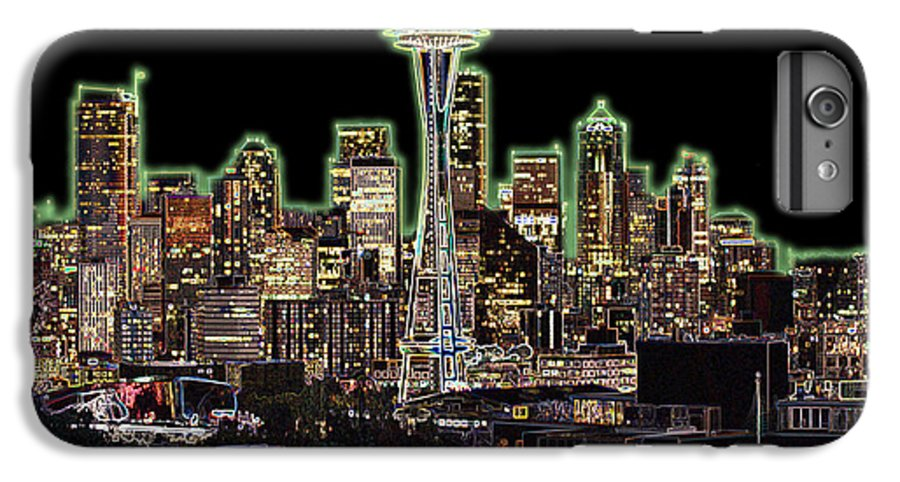 Colorful IPhone 7 Plus Case featuring the photograph Emerald City by Larry Keahey
