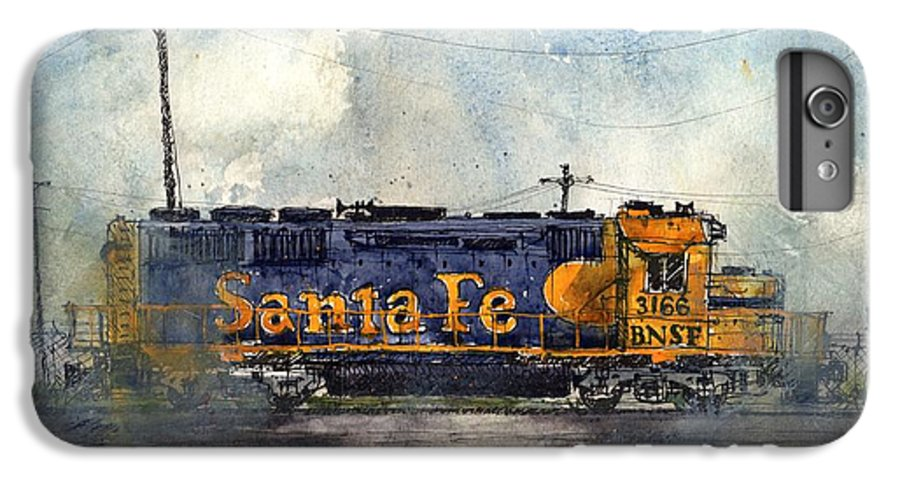 Santa Fe IPhone 7 Plus Case featuring the painting Engine 3166 by Tim Oliver