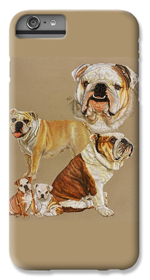 Dog IPhone 7 Plus Case featuring the drawing English Bulldog by Barbara Keith