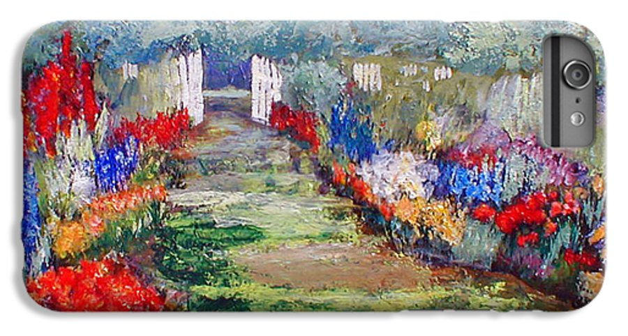 Landscape IPhone 7 Plus Case featuring the painting Enter His Gates by Gail Kirtz