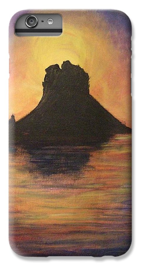 Sunset IPhone 7 Plus Case featuring the painting Es Vedra Sunset I by Lizzy Forrester