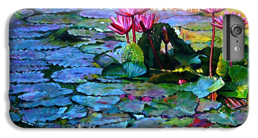 Landscape IPhone 7 Plus Case featuring the painting Expressions From The Garden by John Lautermilch