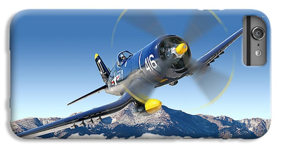 F4-u Corsair IPhone 7 Plus Case featuring the photograph F4-u Corsair by Larry McManus