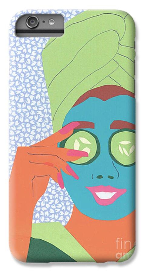Face IPhone 7 Plus Case featuring the mixed media Facial Masque by Debra Bretton Robinson