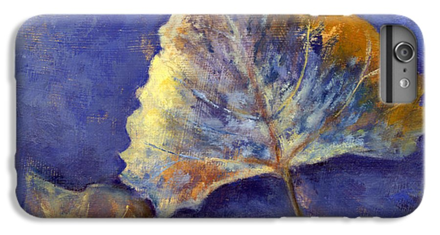 Leaves IPhone 7 Plus Case featuring the painting Fanciful Leaves by Chris Neil Smith