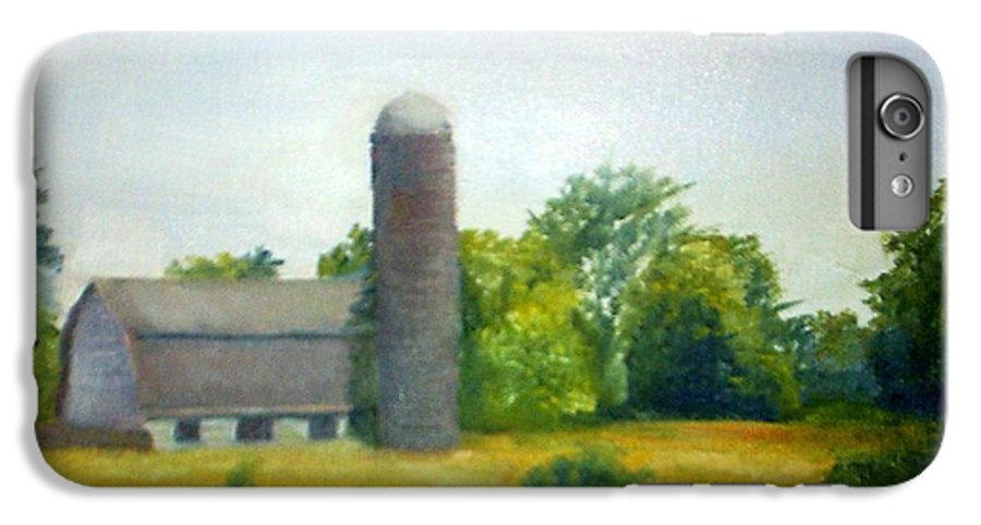 Farm IPhone 7 Plus Case featuring the painting Farm In The Pine Barrens by Sheila Mashaw