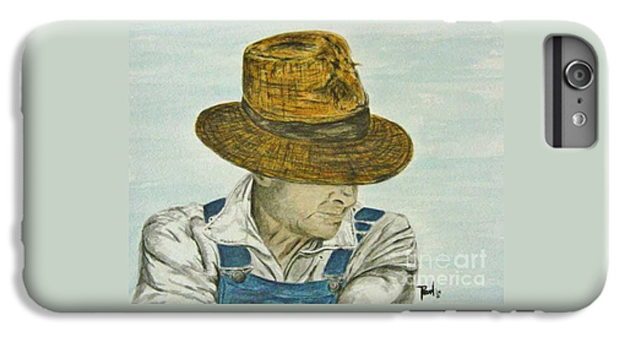 Portrait IPhone 7 Plus Case featuring the painting Farmer Ted by Regan J Smith