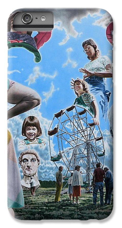 Woman IPhone 7 Plus Case featuring the painting Ferris Wheel by Dave Martsolf