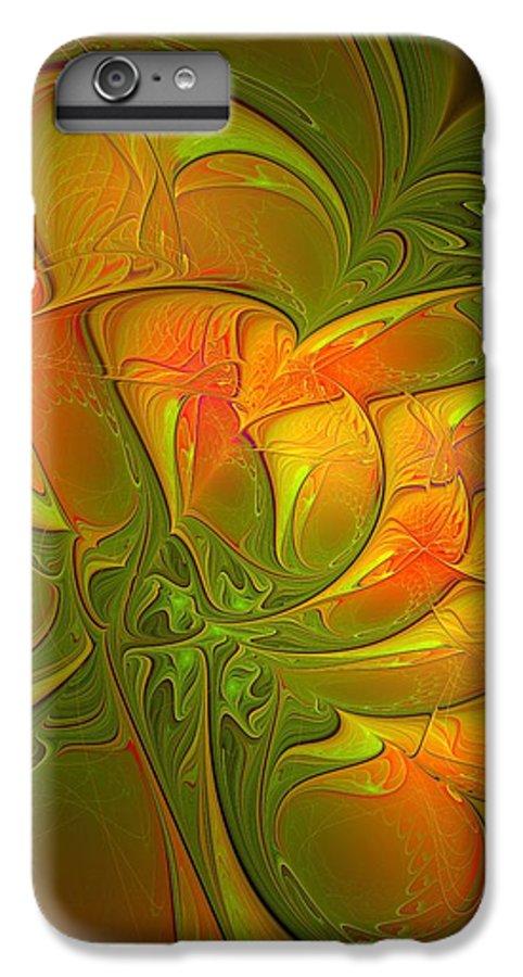 Digital Art IPhone 7 Plus Case featuring the digital art Fiery Glow by Amanda Moore