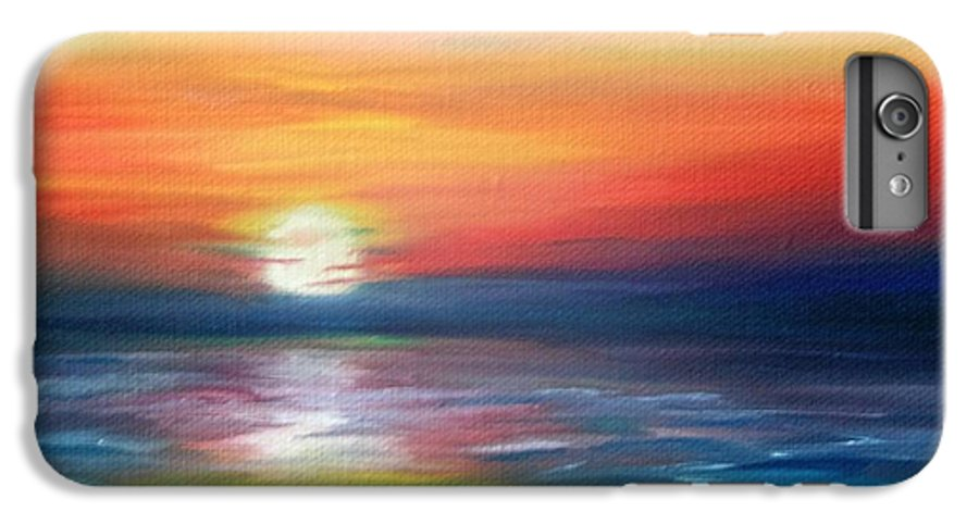 Sunrise IPhone 7 Plus Case featuring the painting First Light by Lora Duguay