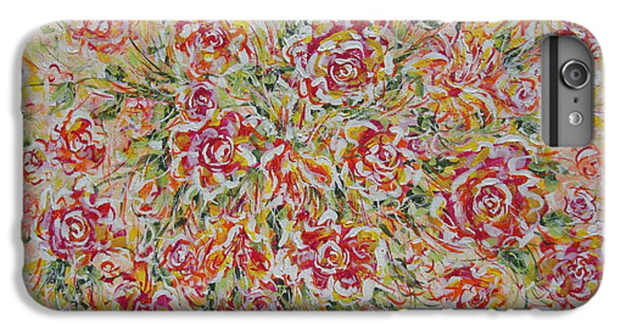 Flowers. Floral IPhone 7 Plus Case featuring the painting First Love Flowers by Natalie Holland