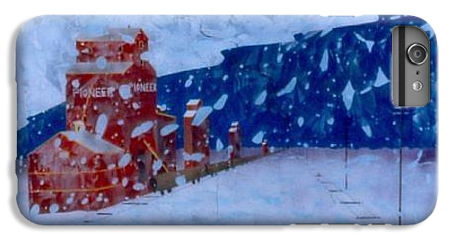 Landscape IPhone 7 Plus Case featuring the painting First Snow by Rick Silas