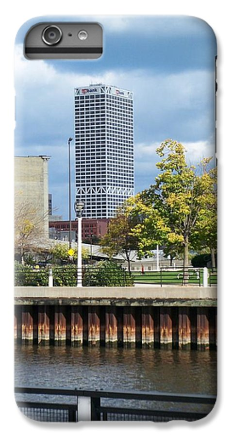 First Star Bank IPhone 7 Plus Case featuring the photograph First Star Tall View From River by Anita Burgermeister