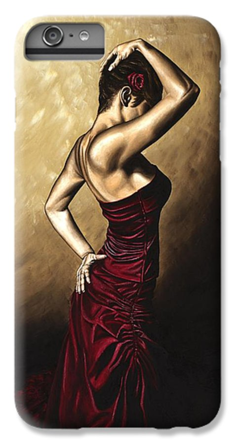 Flamenco IPhone 7 Plus Case featuring the painting Flamenco Woman by Richard Young