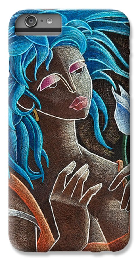 Puerto Rico IPhone 7 Plus Case featuring the painting Flor Y Viento by Oscar Ortiz