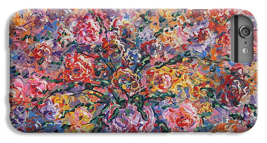 Painting IPhone 7 Plus Case featuring the painting Floral Melody by Leonard Holland