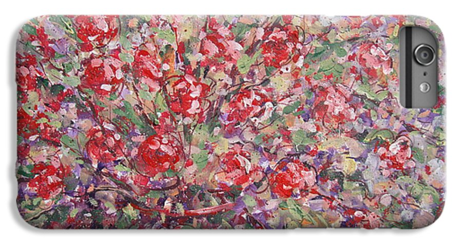 Painting IPhone 7 Plus Case featuring the painting Flower Feelings. by Leonard Holland
