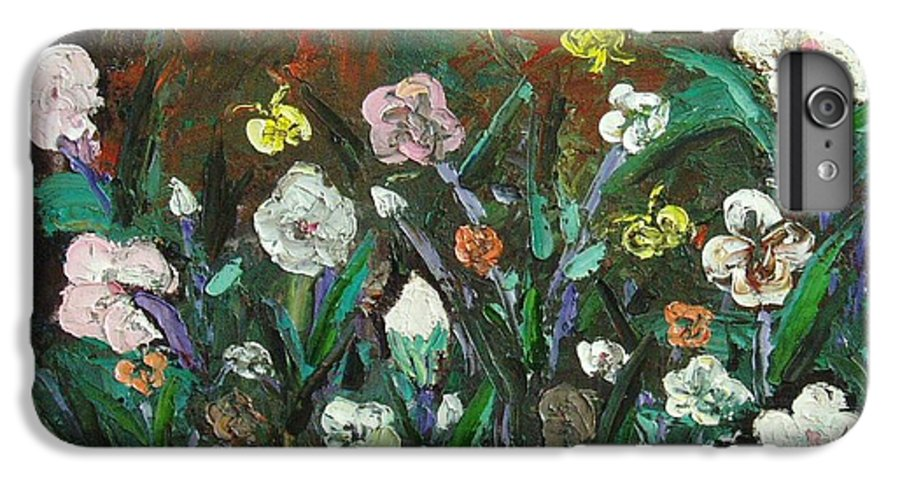 Abstract Paintings IPhone 7 Plus Case featuring the painting Flower Garden by Seon-Jeong Kim