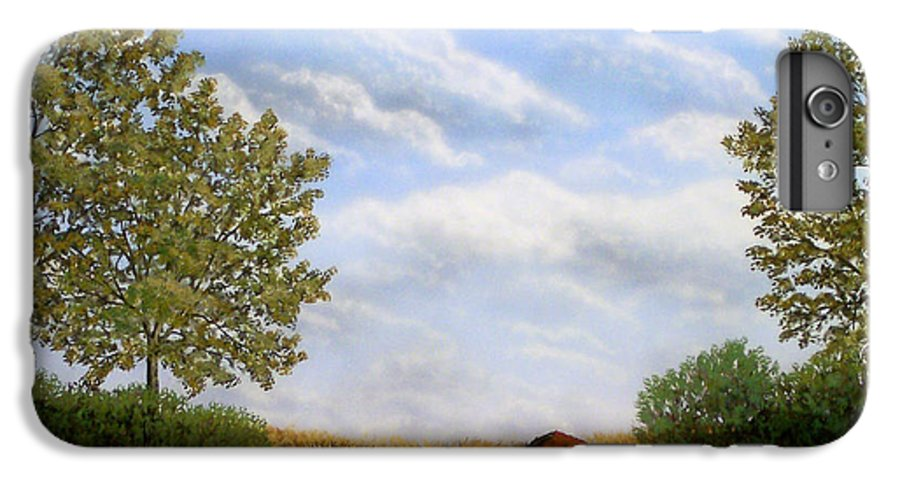 Landscape IPhone 7 Plus Case featuring the painting Foothills Afternoon by Frank Wilson