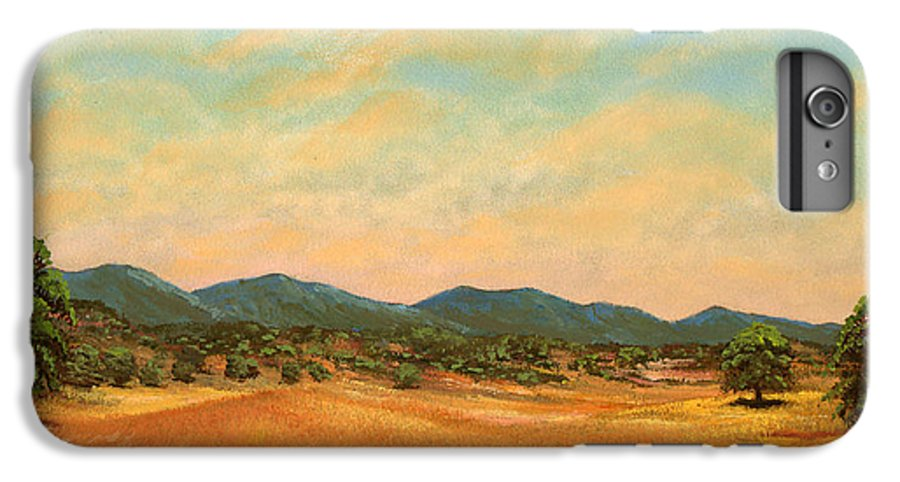 Landscape IPhone 7 Plus Case featuring the painting Foothills by Frank Wilson
