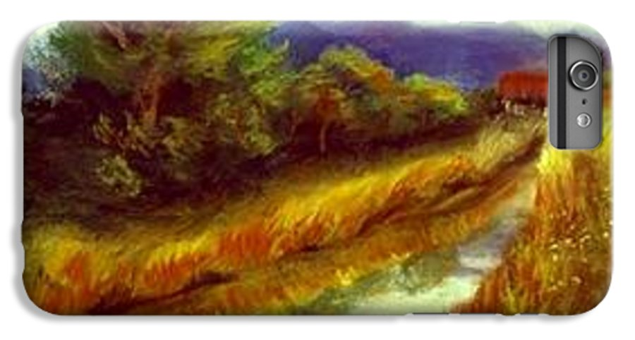 Landscape IPhone 7 Plus Case featuring the painting For A Thirsty Land by Gail Kirtz