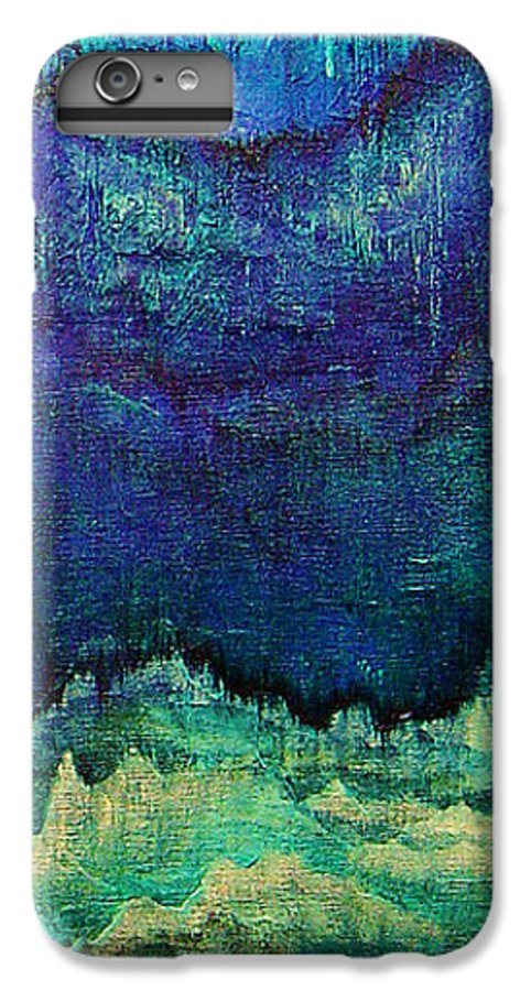 Blue IPhone 7 Plus Case featuring the painting For Linda by Shadia Derbyshire