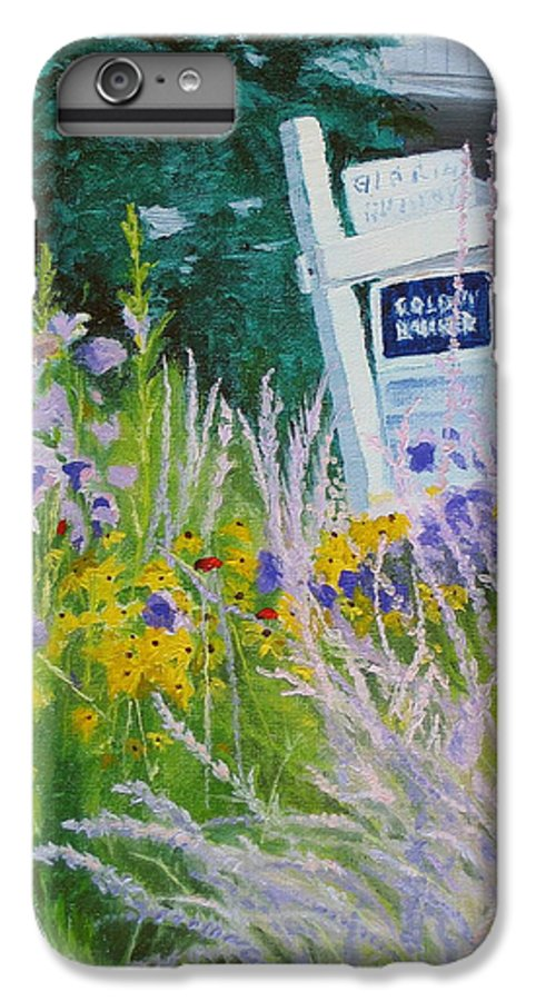 Landscape IPhone 7 Plus Case featuring the painting For Sale - A Patch Of Paradise by Lea Novak