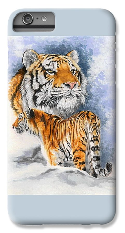 Big Cats IPhone 7 Plus Case featuring the mixed media Forceful by Barbara Keith