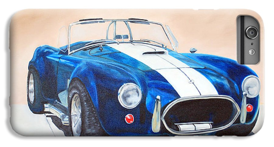 Car IPhone 7 Plus Case featuring the painting Ford Cobra In Oil by Margaret Fortunato