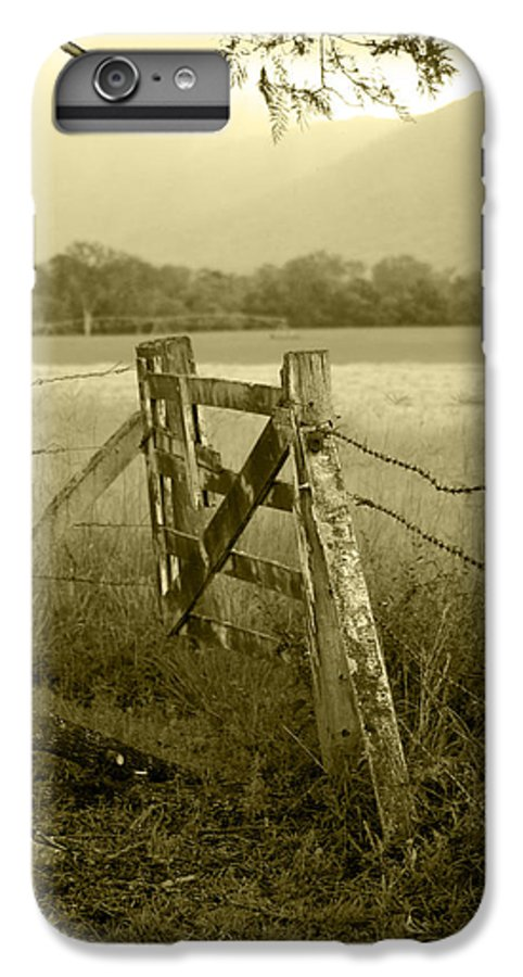 Gate IPhone 7 Plus Case featuring the photograph Forgotten Fields by Holly Kempe