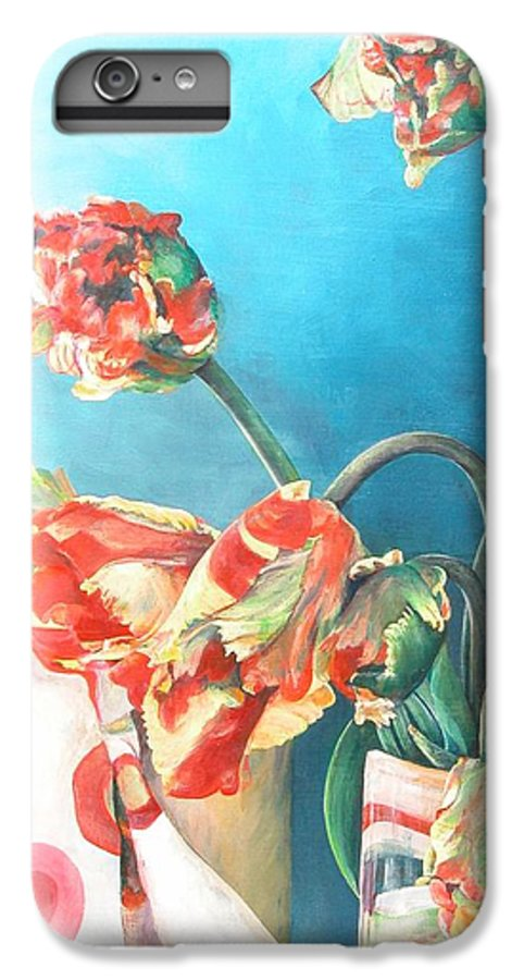 Still Life IPhone 7 Plus Case featuring the painting Foulard by Muriel Dolemieux