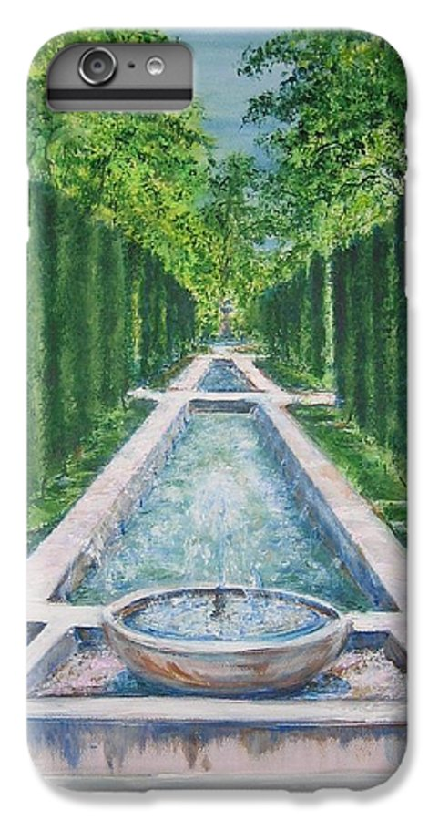 Fountain IPhone 7 Plus Case featuring the painting Fountain Palma De Mallorca Capital by Lizzy Forrester