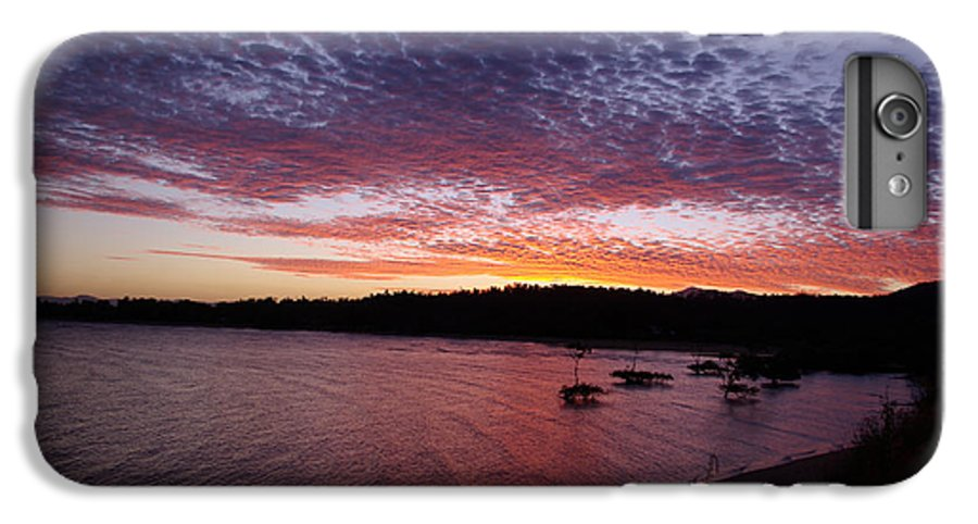 Landscape IPhone 7 Plus Case featuring the photograph Four Elements Sunset Sequence 1 Coconuts Qld by Kerryn Madsen - Pietsch