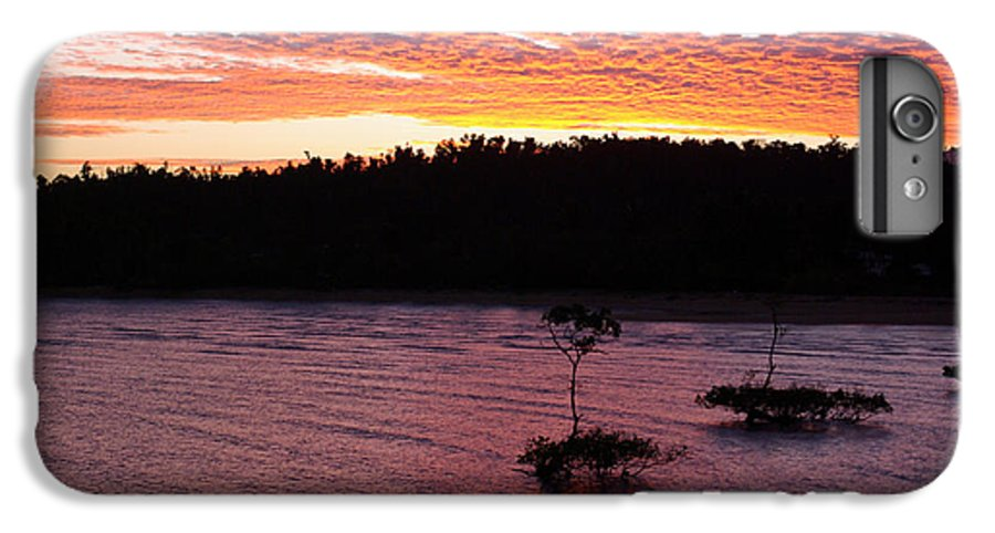 Landscape IPhone 7 Plus Case featuring the photograph Four Elements Sunset Sequence 5 Coconuts Qld by Kerryn Madsen - Pietsch