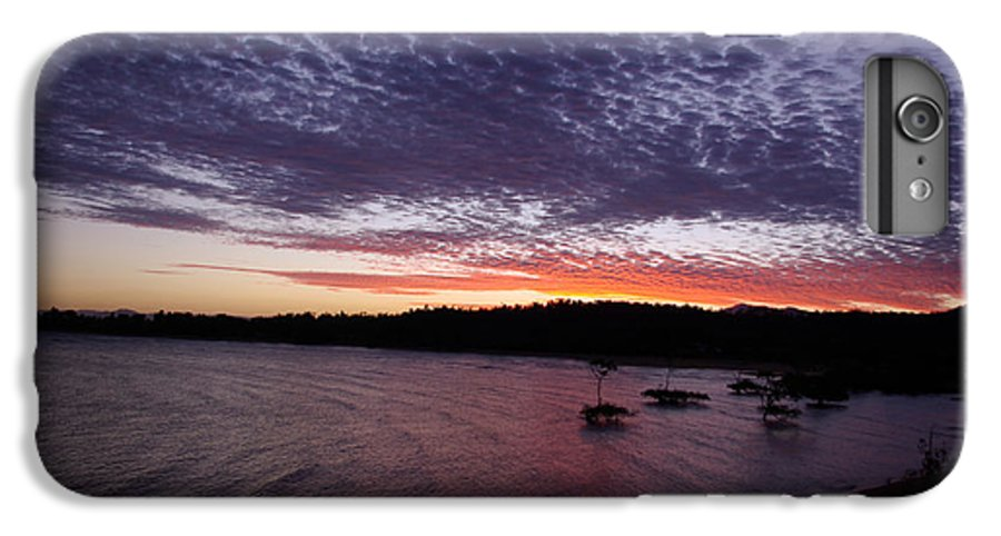 Landscape IPhone 7 Plus Case featuring the photograph Four Elements Sunset Sequence 7 Coconuts Qld by Kerryn Madsen - Pietsch