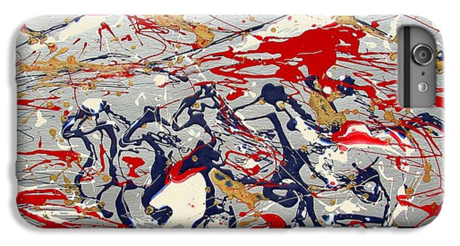 Freedom On The Open Range IPhone 7 Plus Case featuring the painting Freedom On The Open Range by J R Seymour
