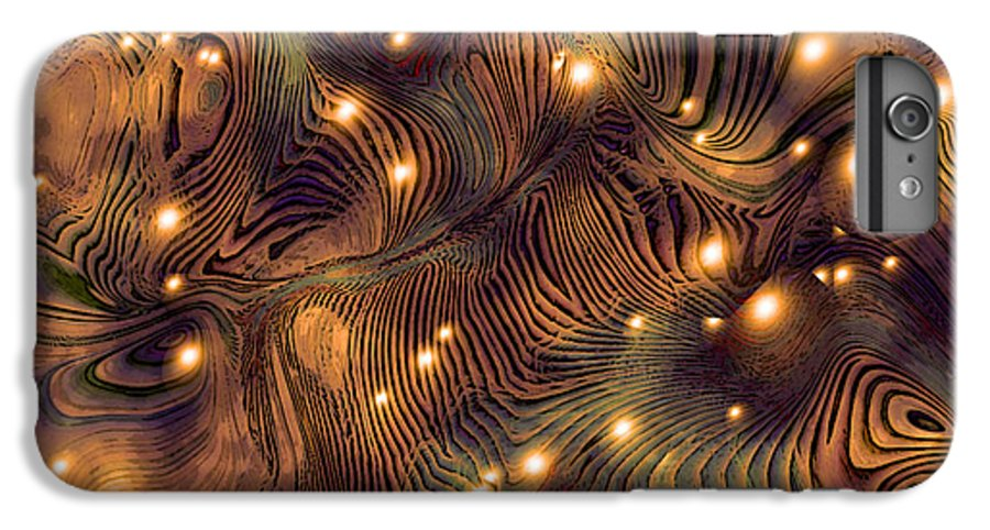 Abstract Digital Art Painting Brown Gold Freshwater Fish Lights Texture IPhone 7 Plus Case featuring the painting Freshwater by Susan Epps Oliver