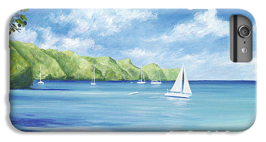 Nautical Seascape IPhone 7 Plus Case featuring the painting Friendship Bay by Danielle Perry