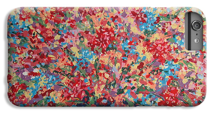 Flowers IPhone 7 Plus Case featuring the painting Full Flower Bouquet. by Leonard Holland