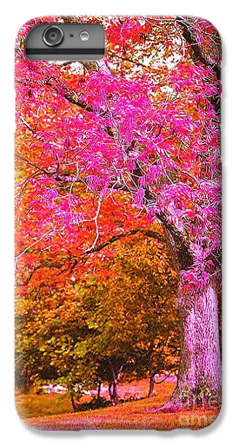 Fuschia IPhone 7 Plus Case featuring the photograph Fuschia Tree by Nadine Rippelmeyer