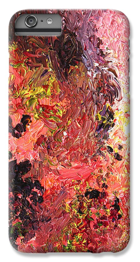 Fusionart IPhone 7 Plus Case featuring the painting Ganesh In The Garden by Ralph White