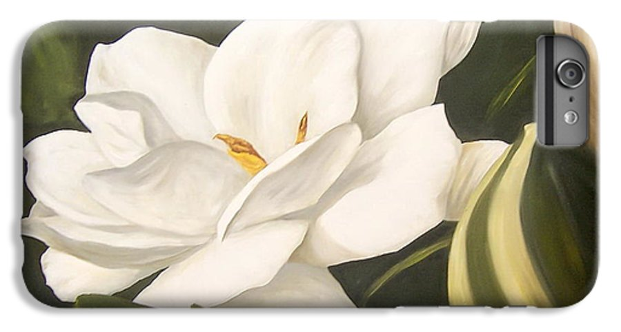 Gardenia Flower IPhone 7 Plus Case featuring the painting Gardenia by Natalia Tejera