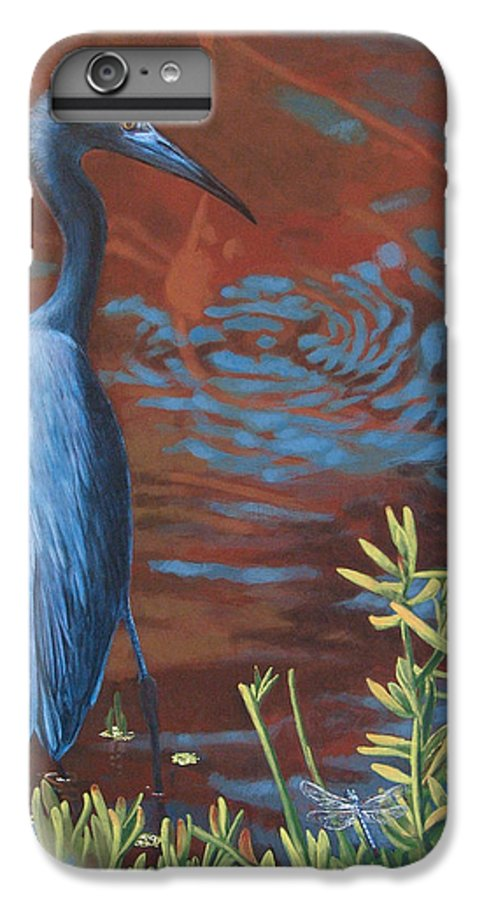 Painting IPhone 7 Plus Case featuring the painting Gazing Intently by Peter Muzyka