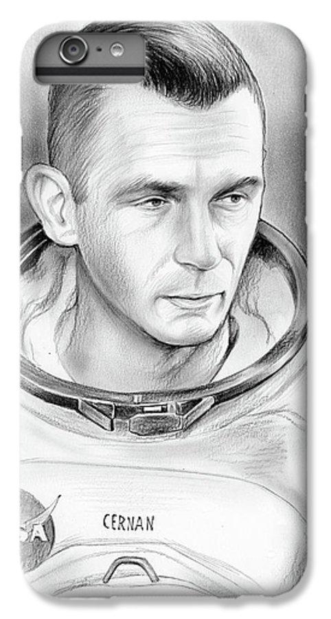 Gene Cernan IPhone 7 Plus Case featuring the drawing Astronaut Gene Cernan by Greg Joens