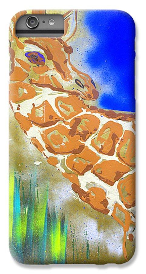 Giraffe IPhone 7 Plus Case featuring the painting Giraffe by J R Seymour
