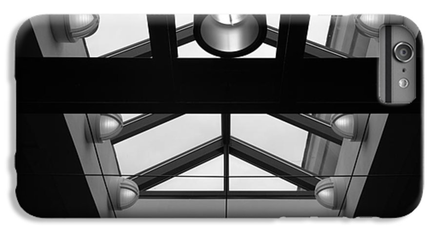 Black And White IPhone 7 Plus Case featuring the photograph Glass Sky Lights by Rob Hans