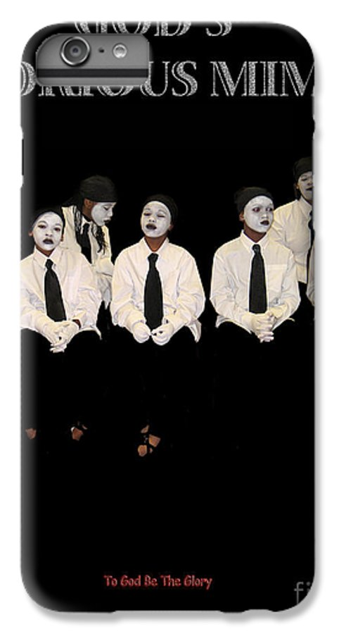 Young Mimes Waiting To Perform For God IPhone 7 Plus Case featuring the photograph God by Reggie Duffie