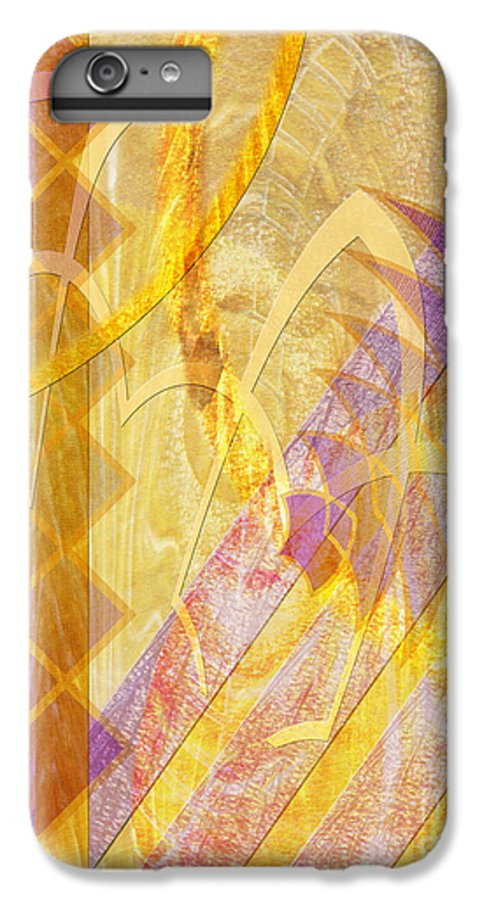 Gold Fusion IPhone 7 Plus Case featuring the digital art Gold Fusion by John Beck