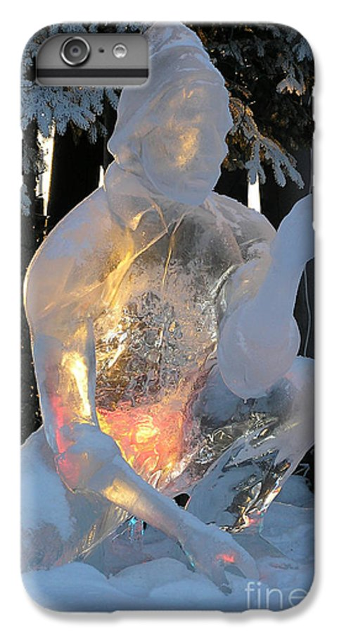 Ice Sculpture IPhone 7 Plus Case featuring the photograph Gold Miner by Louise Magno
